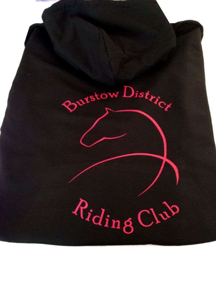 Adults Black Burstow District Riding Club Hoodie